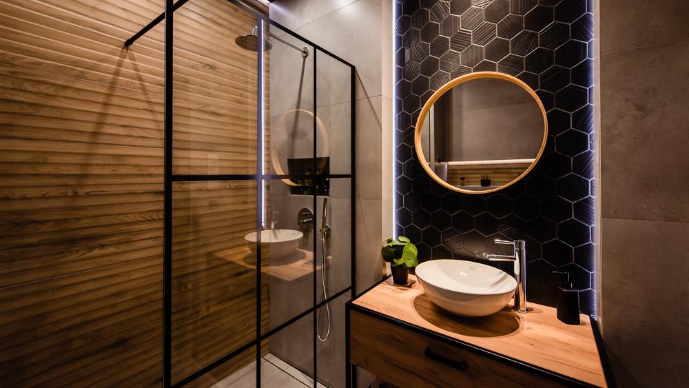 Mała Industrialna łazienka W Loftowym Klimacie Addicted