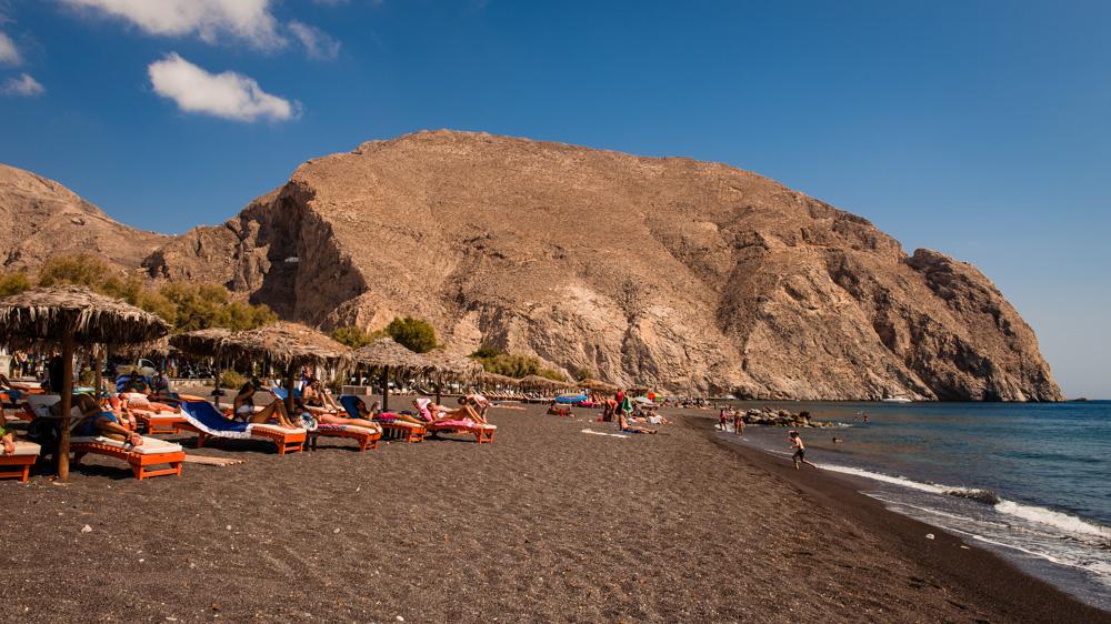 Plaze na Santorini