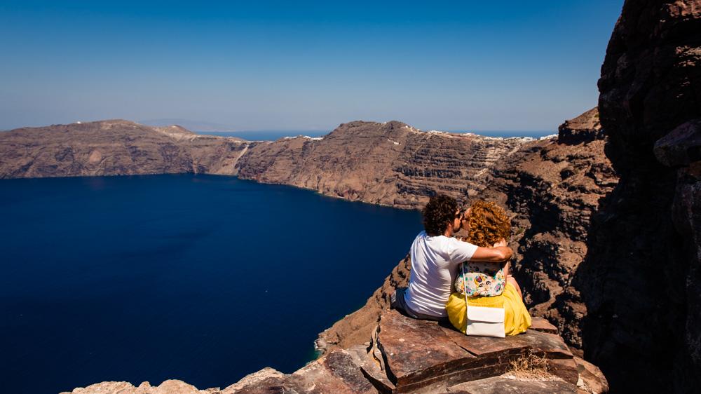 Santorini punkt widokowy