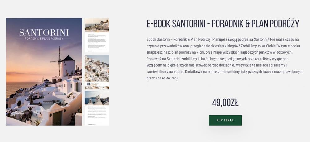 Ebook Santorini Plan Podróży
