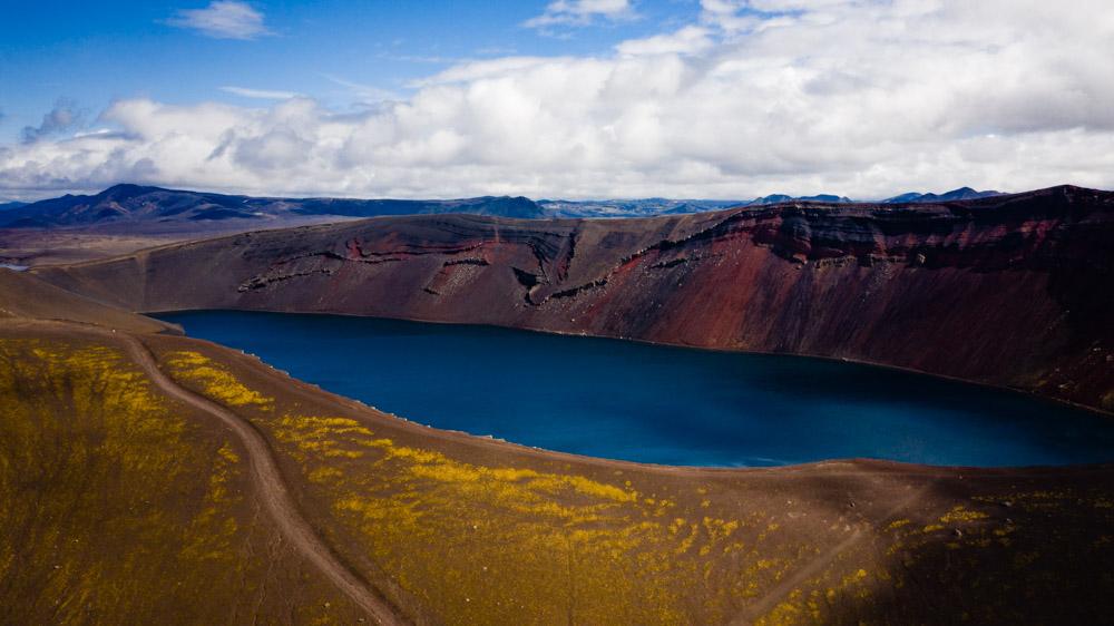 zdjecie z drona islandia