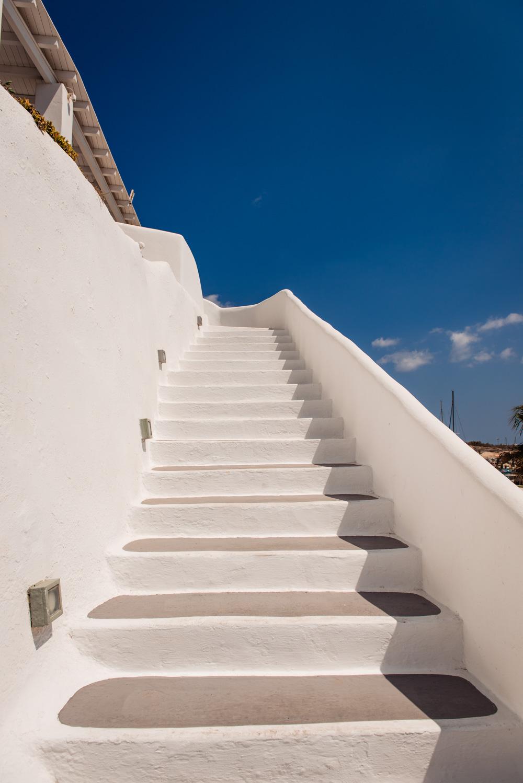 Schody na Santorini