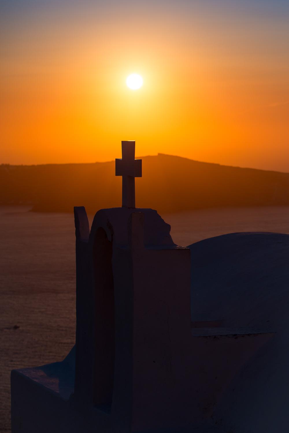 Santorini Zachod slonca