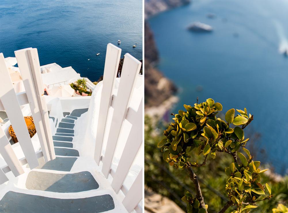 Santorini niebieskie domki