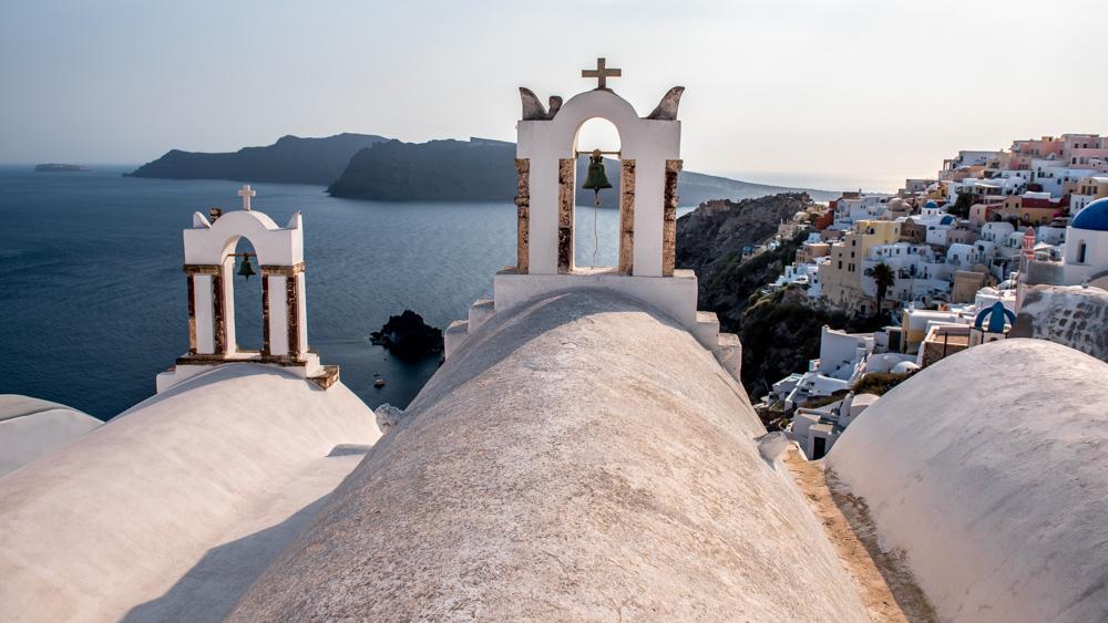Santorini wieze koscielne